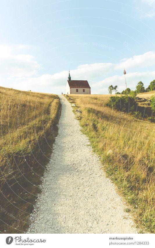 Walberla - Ehrenbürg Freizeit & Hobby Ferien & Urlaub & Reisen Tourismus Ausflug Abenteuer Freiheit Sommerurlaub Berge u. Gebirge wandern Wiese Feld Hügel