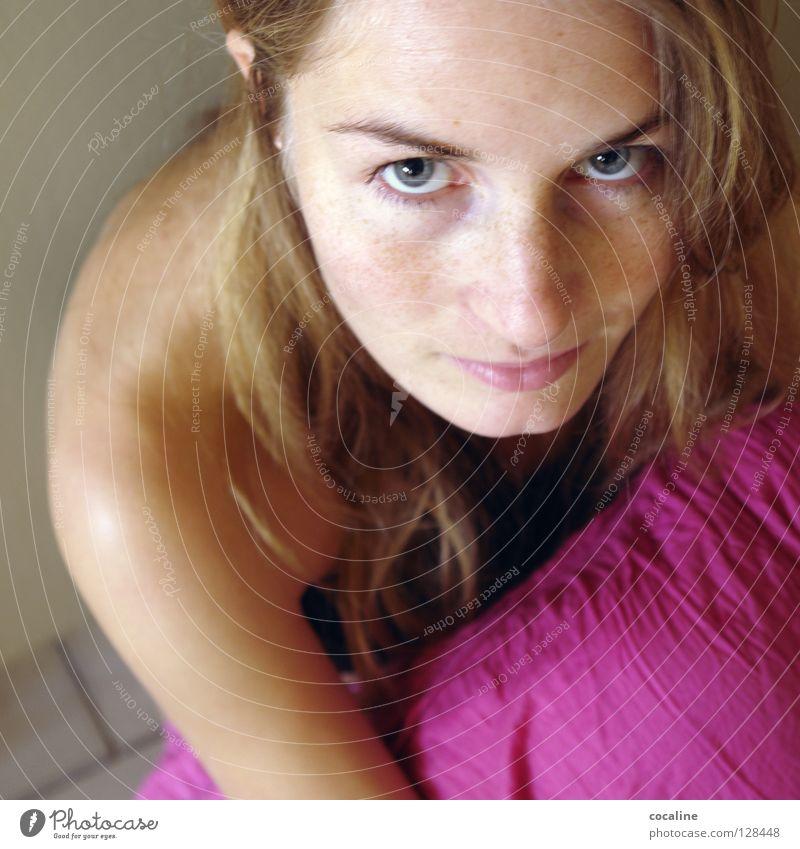 ray of hope Frau Natur schön Gesicht Auge feminin Haare & Frisuren Religion & Glaube blond rosa sitzen süß Hoffnung niedlich Sehnsucht zart