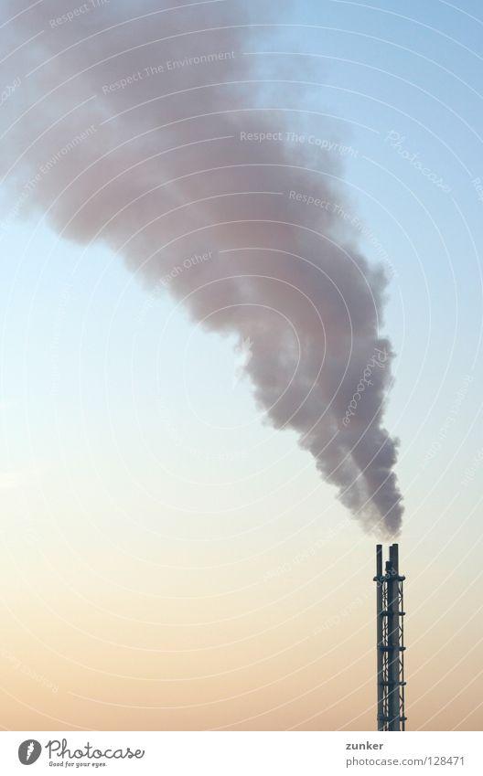 Aufstieg Himmel Metall dreckig Umwelt Industrie Rauch Abgas brennen Wasserdampf Ruhrgebiet verringern