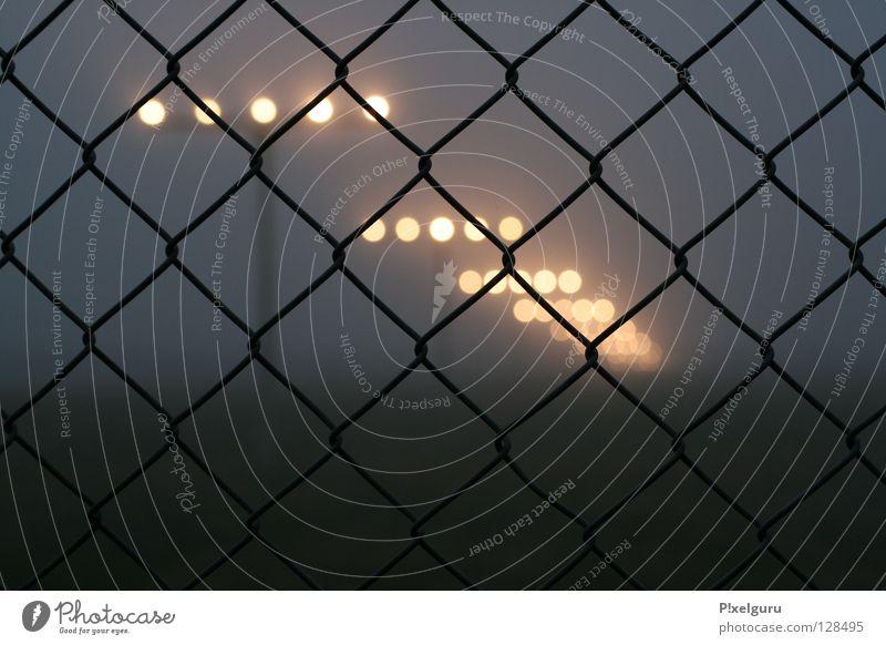 Airport 1 Horizont Nebel Zaun Flughafen Flugzeuglandung Leuchtfeuer Maschendrahtzaun