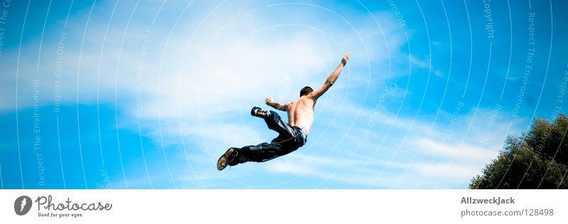 free fallin' Himmel Freude Ferne springen Freiheit Luft Flugzeug frei Beginn hoch Luftverkehr fallen Unendlichkeit Sturz atmen Karriere