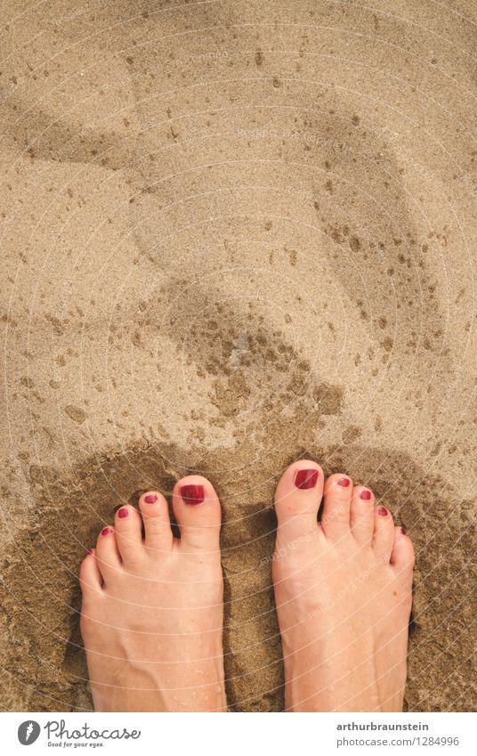 Vom Meer an den Strand Mensch Ferien & Urlaub & Reisen Jugendliche schön Sommer Wasser Junge Frau Sonne feminin Hintergrundbild Schwimmen & Baden Lifestyle Sand