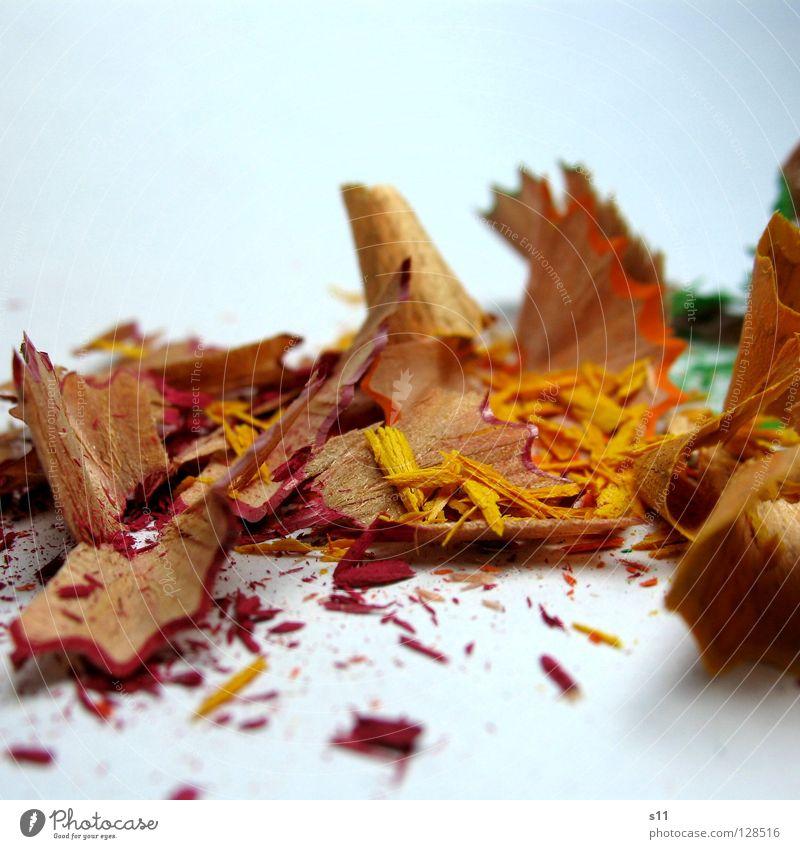 frisch gespitzt grün rot Freude gelb Farbe Holz Kunst Freizeit & Hobby Bild Spitze streichen Müll Kreativität zeichnen Gemälde Schreibstift
