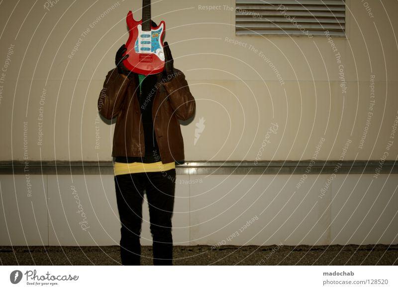 GUITAR-HERO . SPIELS NOCHMAL SAM Mann Jugendliche Stadt Farbe Stil Musik rosa maskulin modern Lifestyle retro Kommunizieren violett Karneval Spielzeug Rockmusik