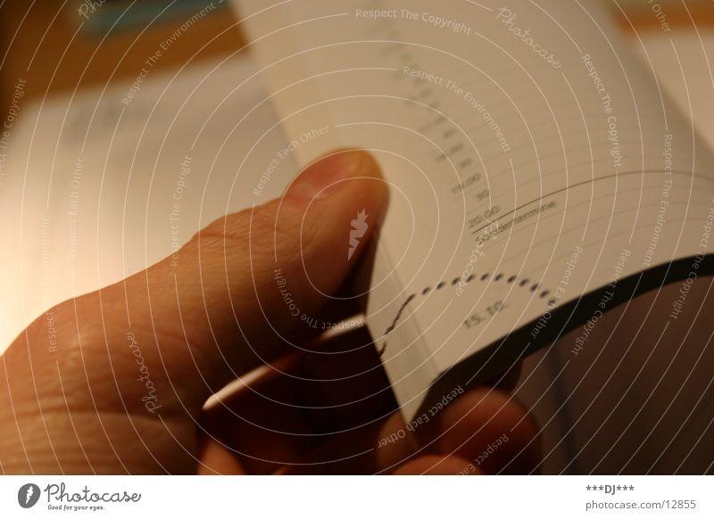 Kalendervorschau Hand Jahr Monat Termin & Datum Finger Zeit wichtig