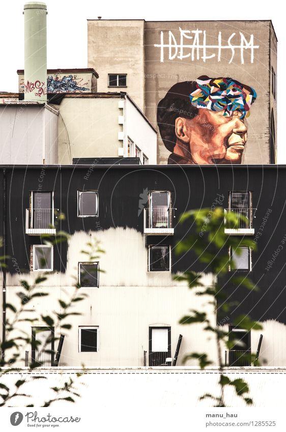 Idealismus schön Graffiti Gebäude Lifestyle Kunst Design modern Perspektive Zukunft Idee Kultur Jugendkultur Gemälde Fabrik trendy Hauptstadt