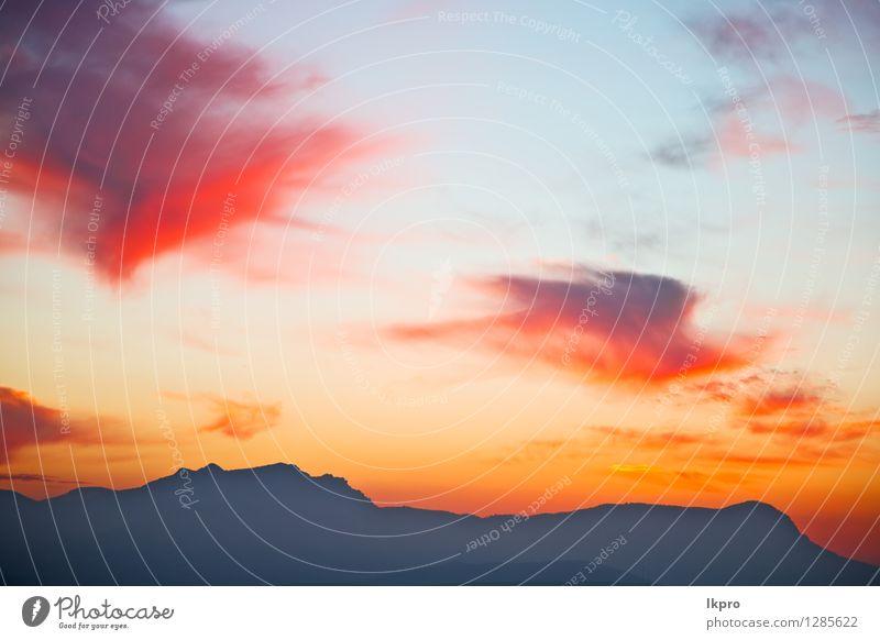 Berg in Marokko Afrika Lans Himmel Natur Ferien & Urlaub & Reisen blau schön Farbe Sommer Sonne rot Landschaft Wolken Winter dunkel Berge u. Gebirge gelb Felsen