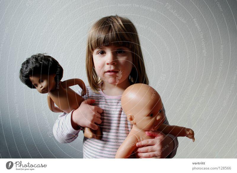 pupentheater IV Kind Mädchen Tier dunkel Wand Spielen grau Haare & Frisuren 2 hell Show festhalten Kleinkind Statue zeigen Versuch
