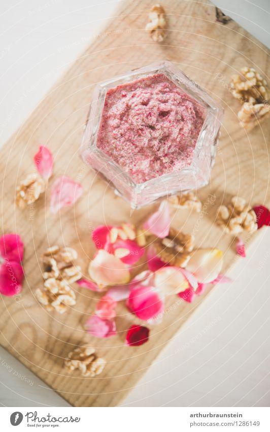 Rosenblütenpesto im Glas Pflanze schön Gesunde Ernährung Blatt Blüte Essen Gesundheit Holz Lebensmittel Freizeit & Hobby stehen Kräuter & Gewürze