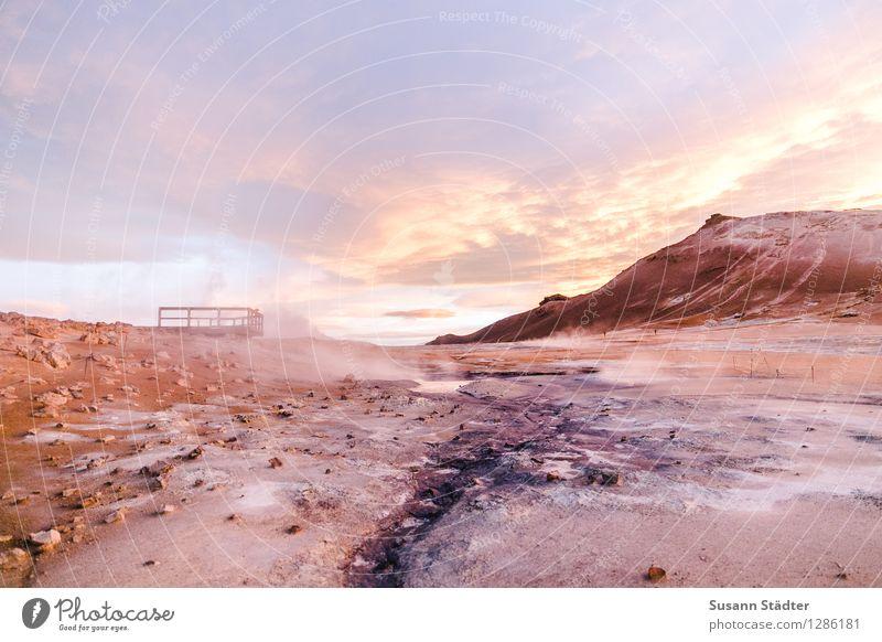 mission mars Natur Ferien & Urlaub & Reisen Landschaft Wolken Berge u. Gebirge Wärme Nebel Klima Urelemente Balkon Wüste Island Schwefel Mars Verdunstung