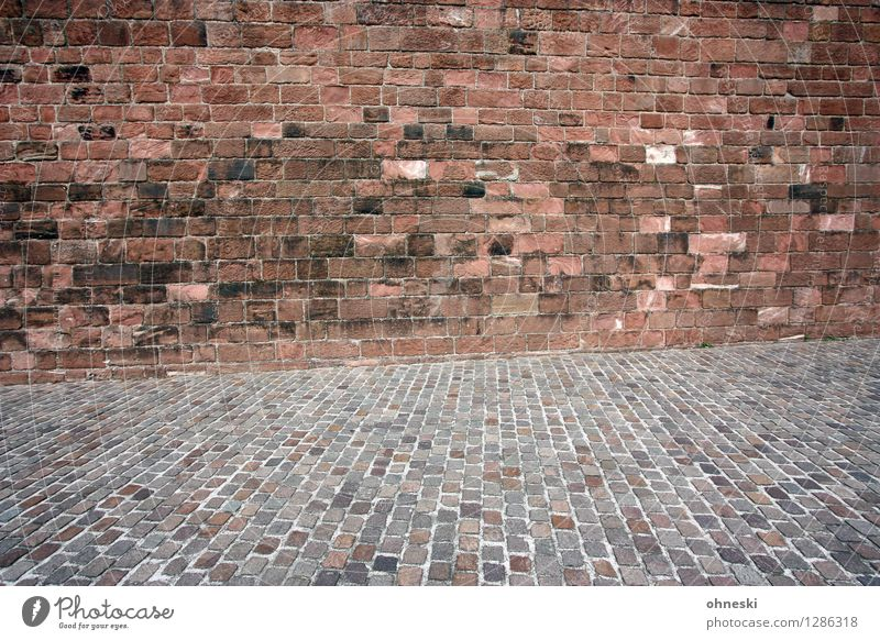 The Wall Wand Straße Wege & Pfade Hintergrundbild Mauer Stein Fassade historisch Bauwerk Backstein Altstadt Backsteinwand