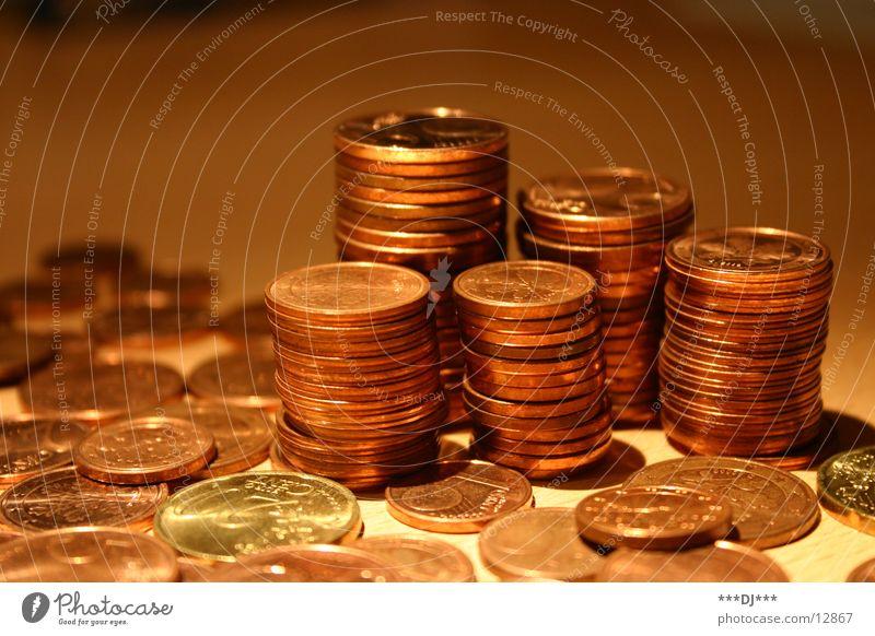 Money, Money, Money... Geldmünzen Reichtum Euro bezahlen sparen zählen Cent Schulden