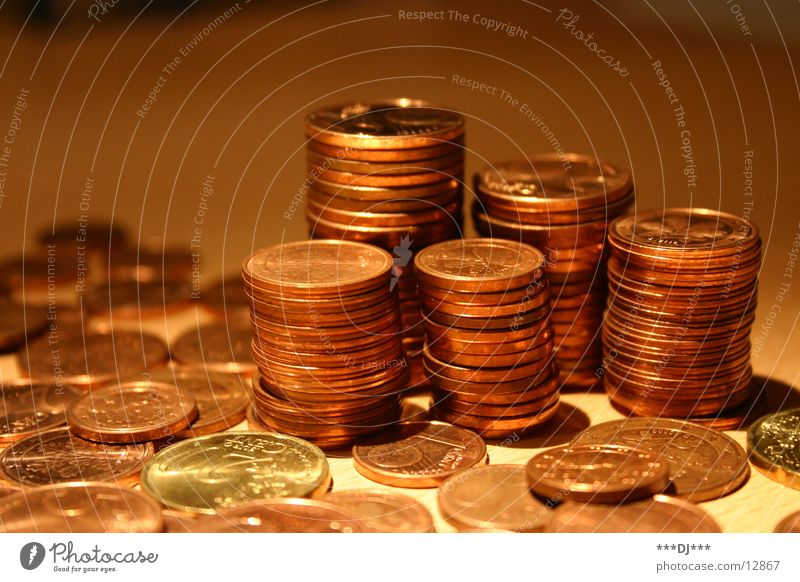 Money, Money, Money... Geldmünzen Geld Reichtum Euro bezahlen sparen zählen Cent Schulden