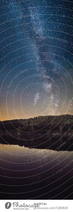Die Milchstraße überm Hafnersee Himmel Wasser Landschaft Freude Ferne Wald Umwelt Küste See Stimmung Horizont Stern Abenteuer Seeufer Gelassenheit Nachthimmel