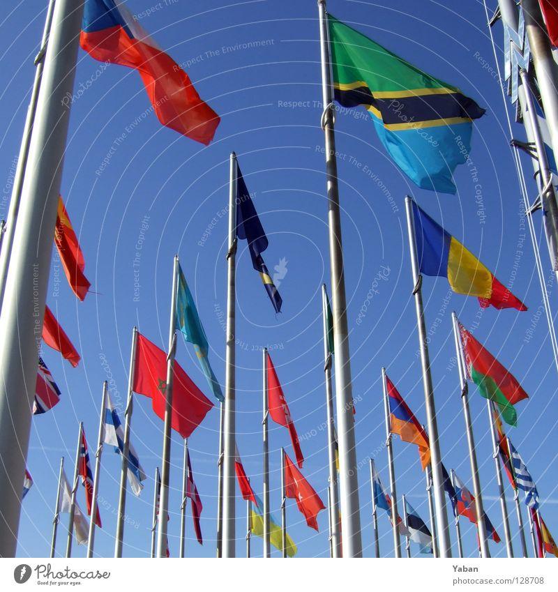 Tansania & friends Erde Wind Schilder & Markierungen Kommunizieren Fahne Griechenland Türkei Verbundenheit Sprache Fahnenmast Finnland international global