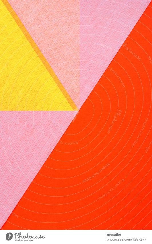 Papier-Design Stil Dekoration & Verzierung Tapete Handwerk Kunst Zirkus Linie braun gelb grau rot Farbe Kreativität Oberfläche blanko Geometrie Entwurf Figur
