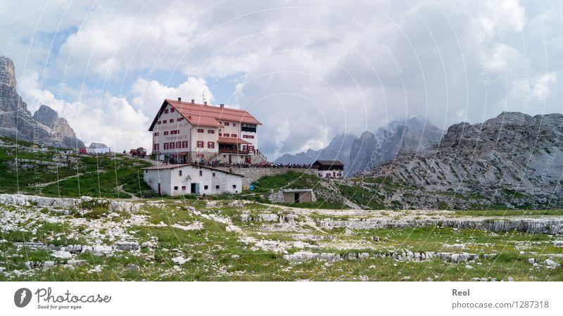 Dreizinnenhütte Himmel Natur Ferien & Urlaub & Reisen Sommer Landschaft Wolken Berge u. Gebirge Umwelt Tourismus wandern Aussicht Ausflug Schönes Wetter Schutz