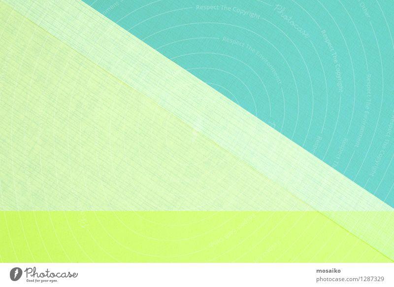 abstract paper design - yellow and natural greenery blau grün Farbe Stil Hintergrundbild Kunst hell Design Dekoration & Verzierung elegant modern retro Papier