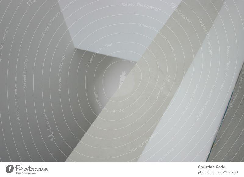 Mein Merzbau alt weiß Farbe Wand grau Stein Mauer Gebäude Raum Wohnung Beton Treppe neu Ecke trist