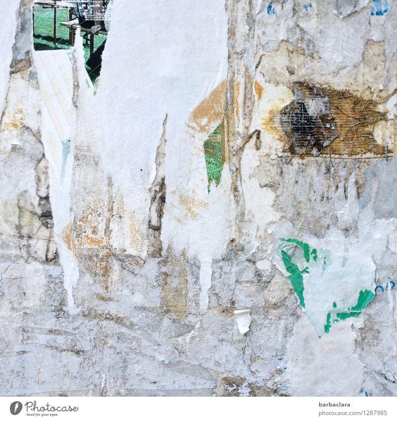 Weißheit | Platz für Weisheiten Kunst Kultur Medien Printmedien lesen Litfaßsäule Papier Zeichen Schriftzeichen Streifen weiß Kommunizieren Kreativität Stadt