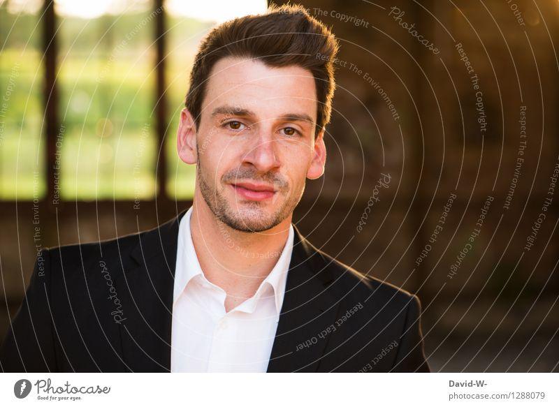 Hemd & Sakko Mensch Jugendliche Mann schön Erotik Junger Mann Erwachsene Leben Lifestyle Business Mode maskulin elegant modern Erfolg Lächeln