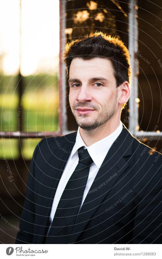 Businessman Reichtum elegant Lehrer Karriere Erfolg Mensch maskulin Junger Mann Jugendliche Erwachsene Leben 1 18-30 Jahre Arbeitsbekleidung Anzug Krawatte