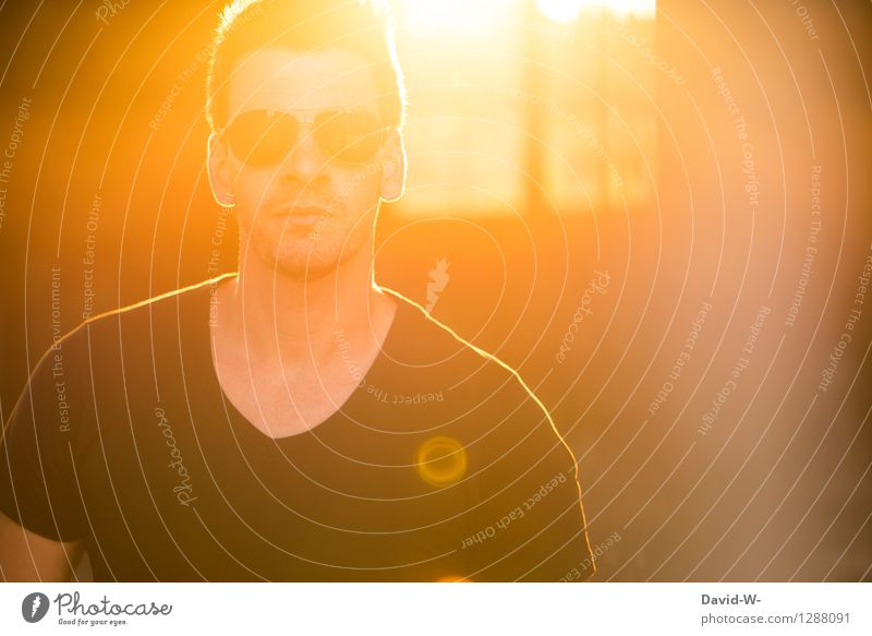 Sonnenflut Mensch Ferien & Urlaub & Reisen Jugendliche Mann schön Sommer Junger Mann 18-30 Jahre Erwachsene Wärme Leben Beleuchtung natürlich Lifestyle Party