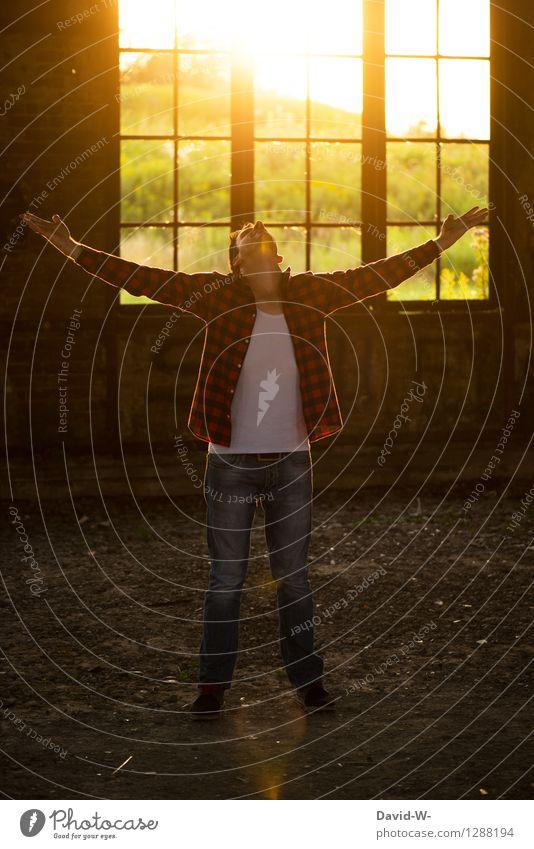 motiviert Mensch Jugendliche Mann Junger Mann Erwachsene Leben Kunst Business Freiheit maskulin frei Körper Erfolg Kreativität lernen planen