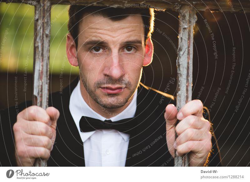 gefangen Reichtum Feste & Feiern Hochzeit Business Mensch maskulin Junger Mann Jugendliche Erwachsene Leben 1 18-30 Jahre beobachten berühren bezahlen
