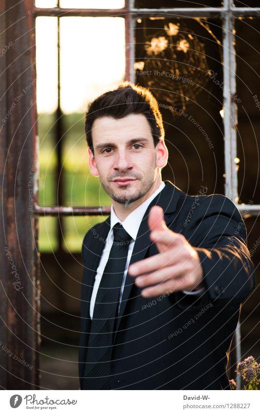 dich suchen wir Berufsausbildung Handel Business Unternehmen Karriere Erfolg Team Mensch maskulin Junger Mann Jugendliche Erwachsene Leben Arme 1 klug schön