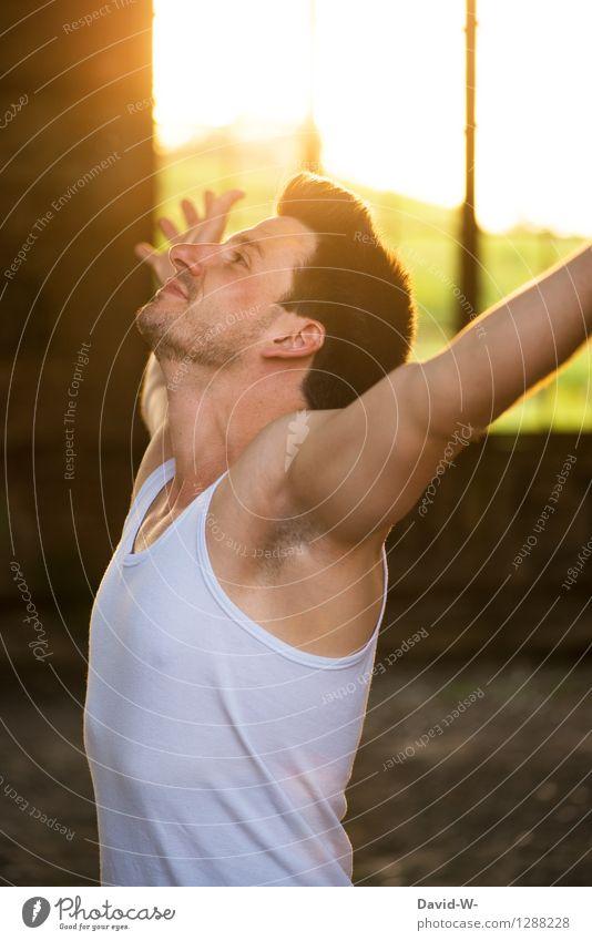 Das Leben ist schön Mensch Jugendliche Mann Sommer Sonne Erholung Junger Mann 18-30 Jahre Erwachsene Leben Frühling Gesundheit Glück Lifestyle maskulin Zufriedenheit