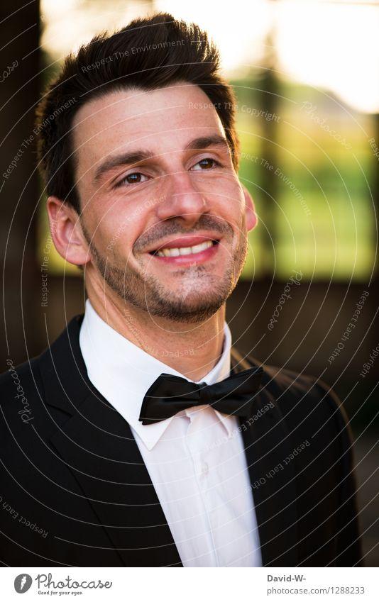 aufgesetzt Mensch Jugendliche Mann Junger Mann 18-30 Jahre Erwachsene Leben Stil Feste & Feiern Lifestyle Party Business maskulin elegant Fröhlichkeit Lächeln