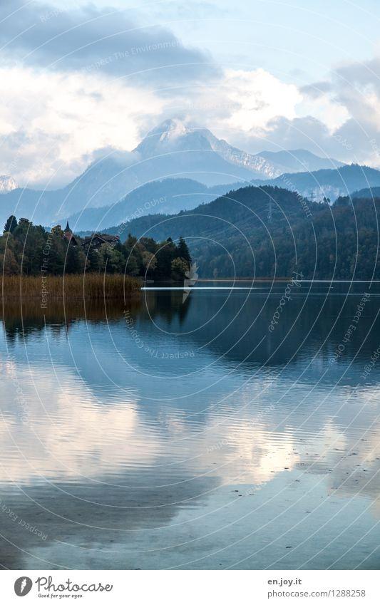 morgens... Himmel Natur Ferien & Urlaub & Reisen blau Sommer Erholung Landschaft ruhig Wolken Wald kalt Berge u. Gebirge Umwelt Herbst Freiheit See