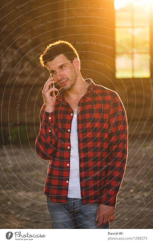 kommunizieren Mensch Jugendliche Mann Junger Mann 18-30 Jahre Erwachsene Leben Gefühle sprechen Stil Denken Lifestyle maskulin Freizeit & Hobby Häusliches Leben