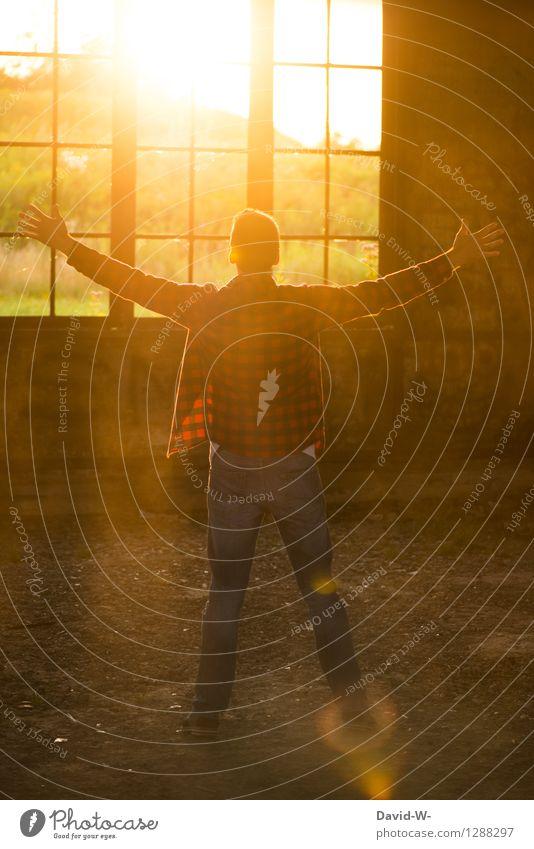 Sonnenanbeter Mensch Ferien & Urlaub & Reisen Jugendliche Mann Sommer schön Junger Mann Erwachsene Leben Gefühle Lifestyle Freiheit Stimmung Tourismus maskulin