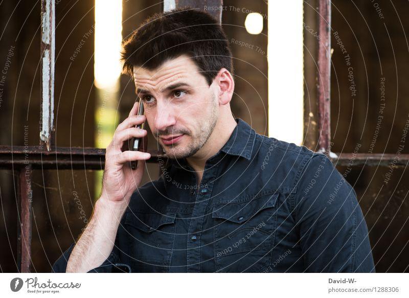 Heimkommen | Schatz, mir ist etwas dazwischen gekommen Mensch Jugendliche Mann Junger Mann Erotik 18-30 Jahre Erwachsene Leben Business Zusammensein maskulin warten Kommunizieren Zukunft Netzwerk Kontakt