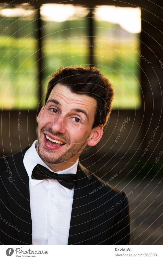 Happy Mensch Mann Freude Erwachsene Leben lachen Feste & Feiern Lifestyle Mode Party Business maskulin elegant Geburtstag Erfolg genießen