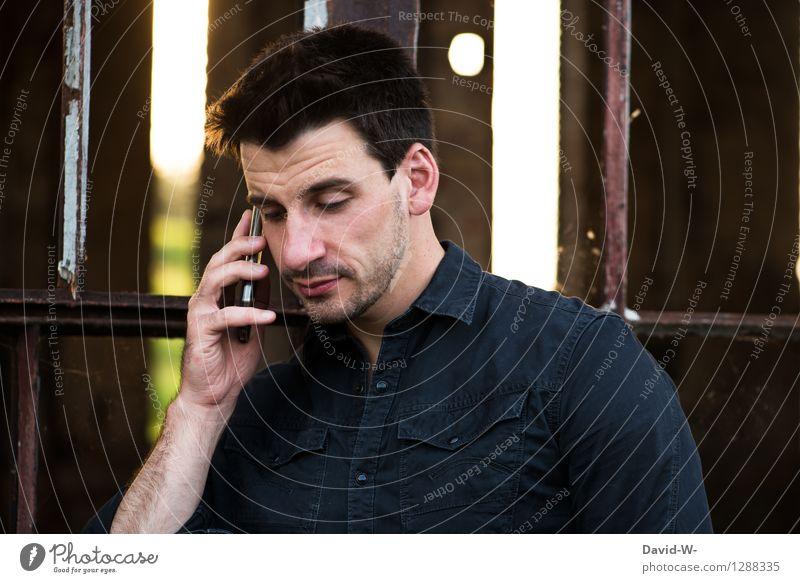 telefonieren Mensch Jugendliche Mann Junger Mann 18-30 Jahre schwarz Erwachsene Leben Stil Lifestyle Business maskulin elegant Technik & Technologie