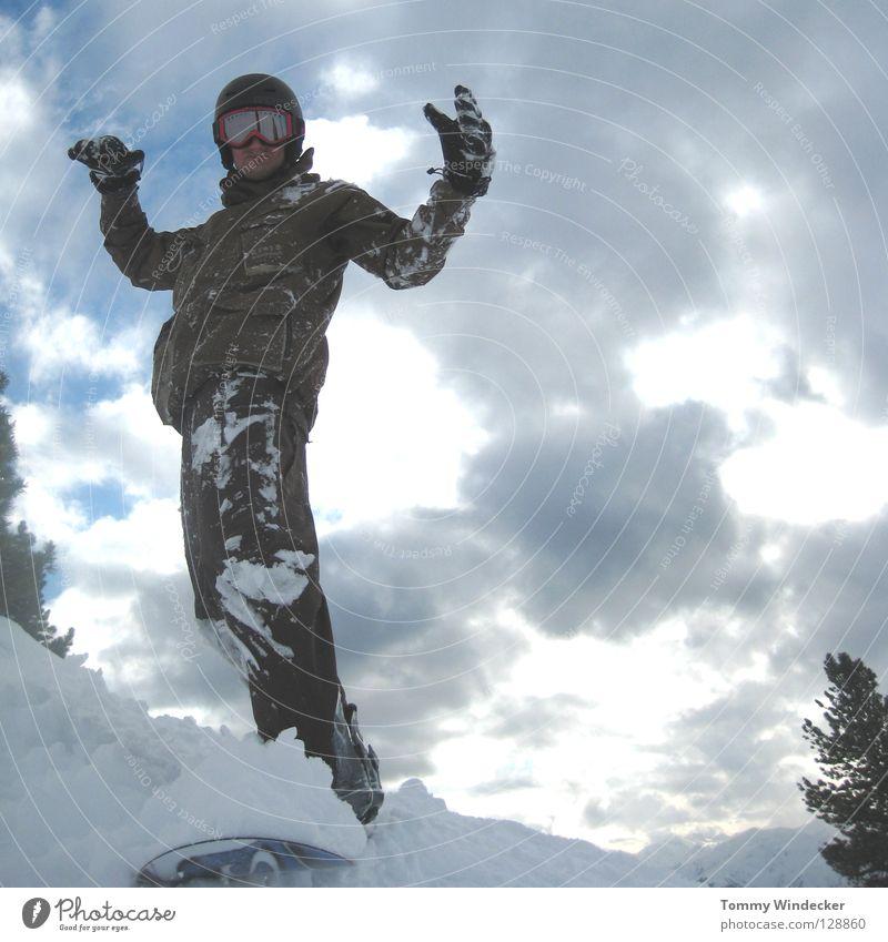 Kreuzjoch X-Press die zweite Mensch Himmel Natur Ferien & Urlaub & Reisen Mann blau weiß Landschaft Freude Winter kalt Berge u. Gebirge Schnee Sport