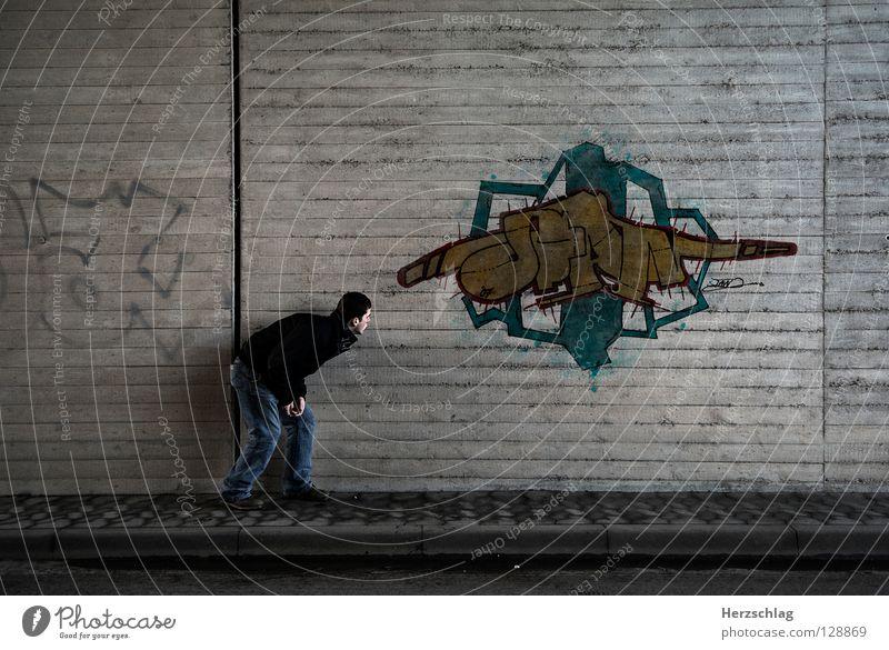 The Wall and my Graffiti Reihe Kunst Vandalismus perfekt Baseballmütze Dose Tagger Wandmalereien sTan Gesichtsausdruck Street Strukturen & Formen Farbe Mauer