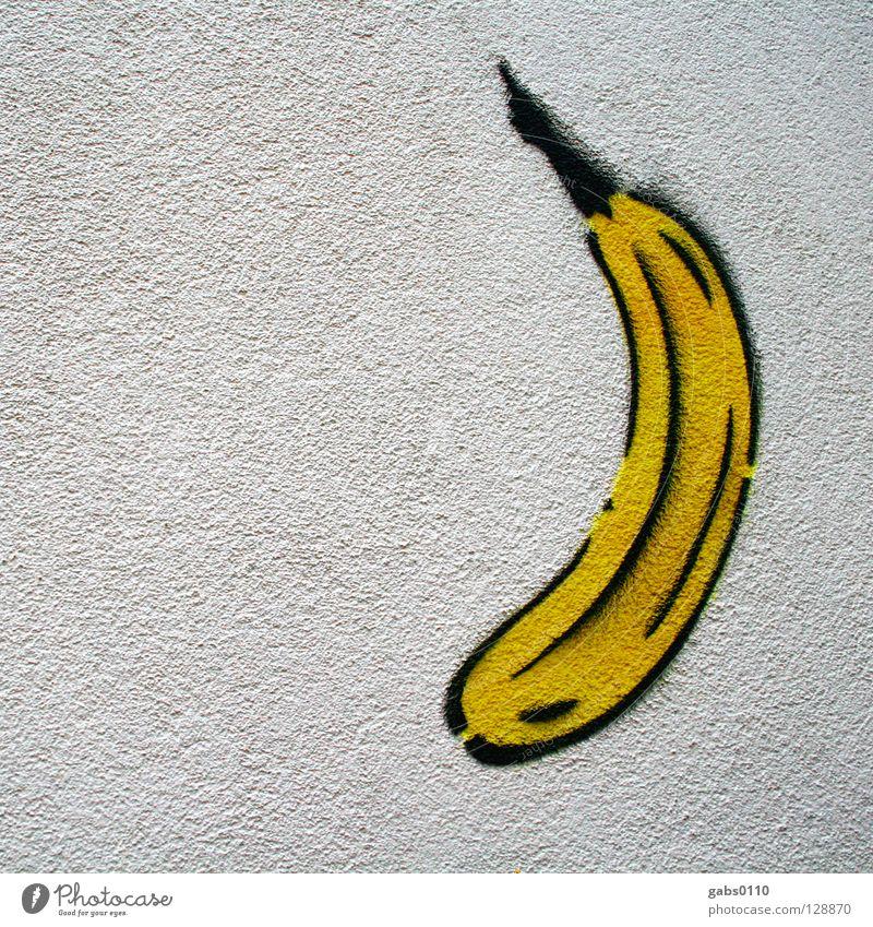 Alles Banane gelb Berlin Wand Graffiti Kunst Kultur Frucht Spray sprühen Hausmauer Vandalismus provokant