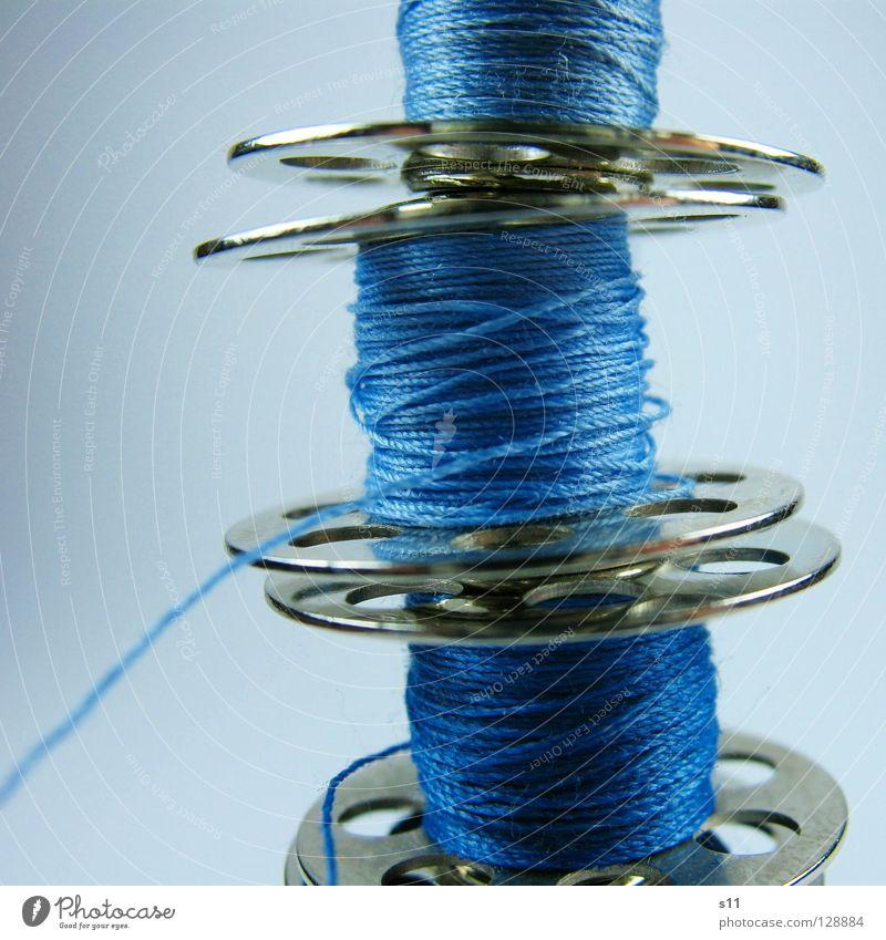 NähFaden Freizeit & Hobby Handarbeit Handwerk Nähmaschine Mode Bekleidung Stoff blau Farbe Nähen hell-blau 3 Nähgarn Textilien Schneidern Naht wickeln abwickeln