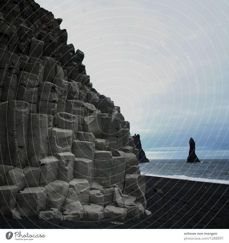 abendstimmung Umwelt Natur Landschaft Urelemente Erde Sand Wasser Himmel Horizont Herbst Klima Wetter Wind Sturm Strand Nordsee Meer Vik Island genießen wild