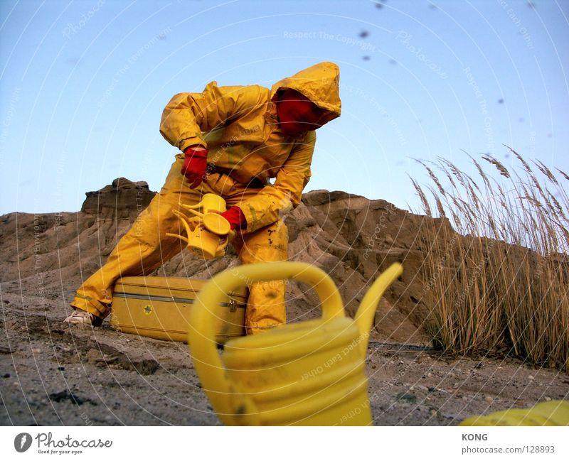 ich geb dir kanne ! Himmel Freude gelb grau dreckig Erde mehrere Bodenbelag Wüste Maske Hügel Anzug viele Paradies Planet beige