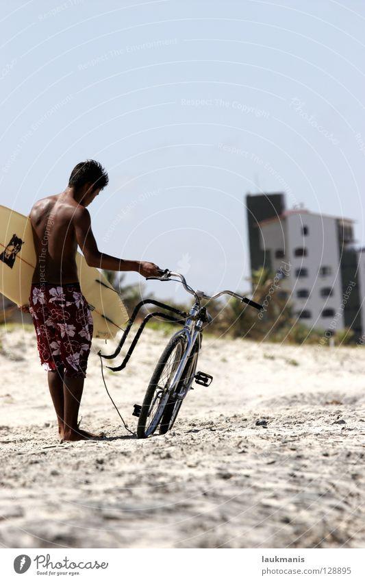 Surf&Bike Freude Strand Sport dunkel Sand Fahrrad Haut Surfen Shorts Brasilien Surfer Südamerika Funsport Bermuda-Inseln