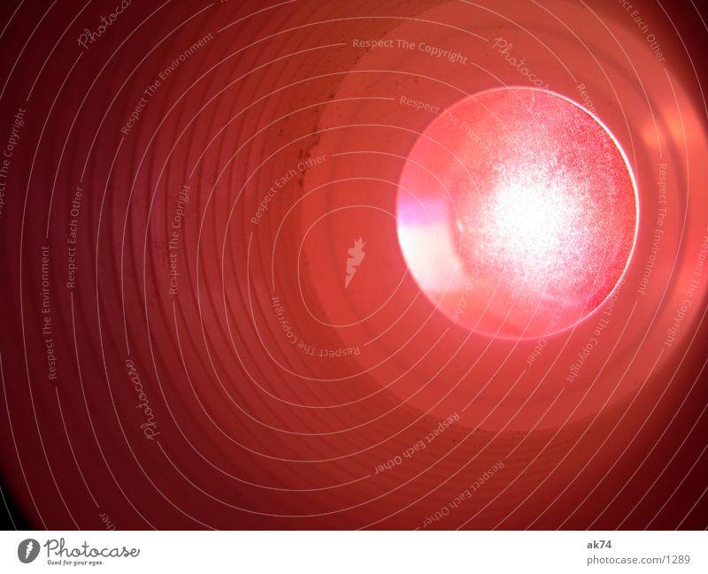 Rote Linse rot Dinge Makroaufnahme Projektor