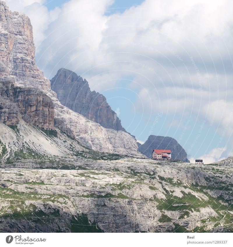 Dreizinnenhütte III Ferien & Urlaub & Reisen Tourismus Ausflug Ferne Berge u. Gebirge wandern Umwelt Natur Landschaft Urelemente Erde Himmel Wolken Sommer