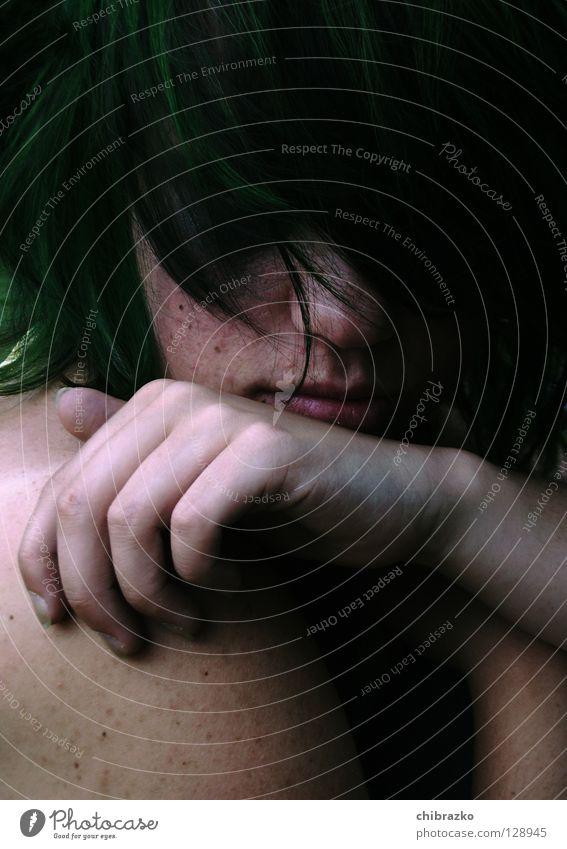 Lucy grün Haare & Frisuren Trauer Verzweiflung Sommersprossen Hardcore
