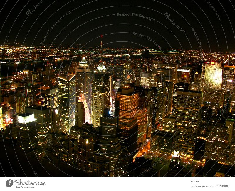 View from Empire to Times Square Stadt Ferne groß eng Zeit New York City Manhattan