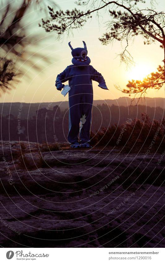 Gabi blau Freude Kunst Felsen ästhetisch Bekleidung Gemälde Kunstwerk Kostüm Karnevalskostüm Monster spaßig Spaßvogel Außerirdischer außerirdisch verkleidet